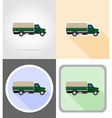 truck flat icons 13 vector image