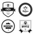 Set of retro logos vector image