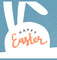 happy easter greeting card easter bunny pastel vector image