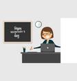 Happy secretarys day celebration female office vector image