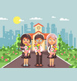 characters children two vector image