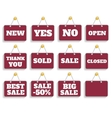 Shopping sign board vector image