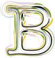 Organic Font letter b vector image vector image