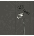 Flower background Simple and clean design template vector image
