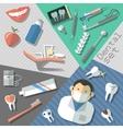 Dental stickers set vector image