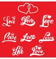 Love calligraphic inscriptions for postcards vector image