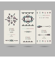Tribal vintage ethnic banners or invitation cards vector image