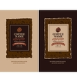 design labels for coffee vector image