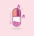 abstract close up of pink hearts vertical capsule vector image