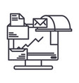 email marketing line icon sign vector image
