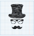 Hipster style accessories design vector image