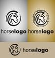 horse logo 2 vector image