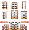modern buildings set vector image