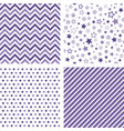 ultra violet seamless patterns backgrounds vector image
