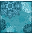 Blue Indian ethnic ornament vector image vector image