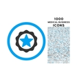 Award Seal Rounded Icon with 1000 Bonus Icons vector image