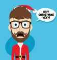 santa claus christmas skinny dad vector image