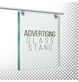 square advertising glass board 3d vector image