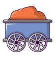train wagon icon cartoon style vector image