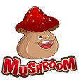 Mushroom with happy face vector image vector image