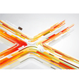 abstract orange lines vector image
