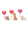 Valentine animals vector image