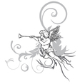 angel with floral vector image vector image