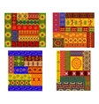 Colorful African ethnic patterns vector image