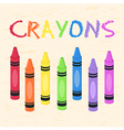 Crayons Set Rainbow Color vector image