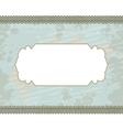 cyan blot frame background vector image