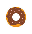 donut icon flat style vector image