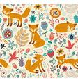 Foxy pattern vector image