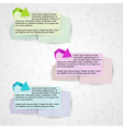 infographics - three color arrows and paper vector image