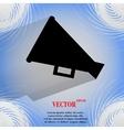 Megaphone Loud-hailer icon on a flat geometric vector image