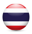 Round glossy icon of thailand vector image