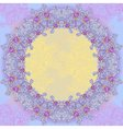 Violet abstract design round frame vector image