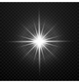 white glowing transparent brightly light vector image