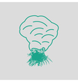 Sesonal grass burning icon vector image