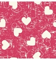 Seamless hearts grunge background vector image vector image