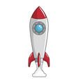 rocket spaceship symbol vector image