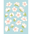 Spring flower elements vector image