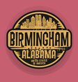 Birmingham Alabama stamp vector image
