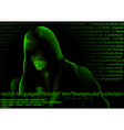 Hacker and Computer Codes vector image vector image