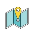 Delivery Map Location Pin Design Flat vector image