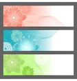 floral background Horizontal banner vector image