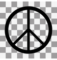 Peace sign Icon on a transparent vector image