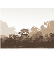 forest silhouette background vector image vector image