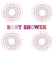 baby shower Symmetry circle shape child vector image