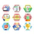 Business Office and Marketing Icons Set vector image