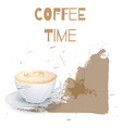 coffee cappuccino background or banner flayer vector image